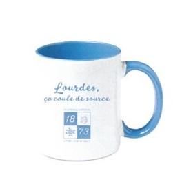 """Mug,"""" Lourdes ca coule de source"""""""